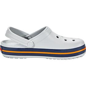 Crocs Crocband Clogs light grey/navy